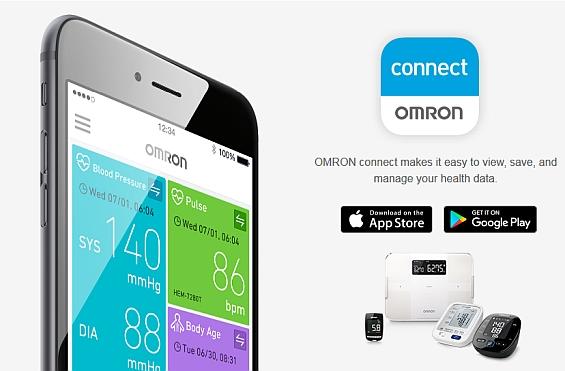 Aplikacja do ciśnieniomierza Omron